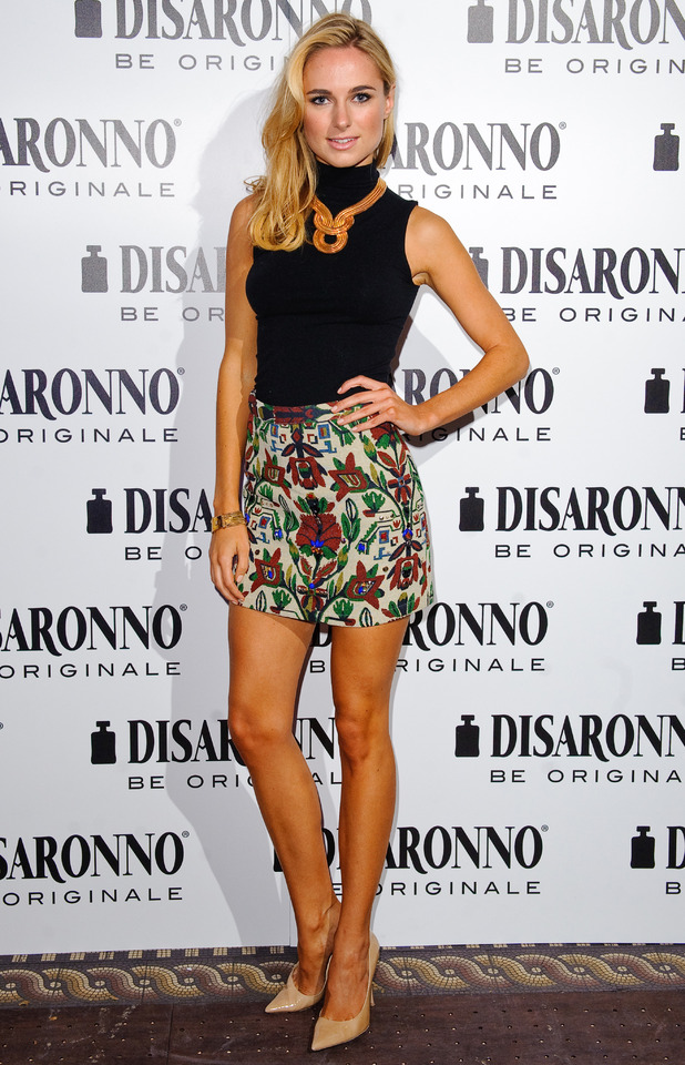 Kimberley Garner attends the Disaronno wears Versace launch party held at One Mayfair in London - 30 September 2014
