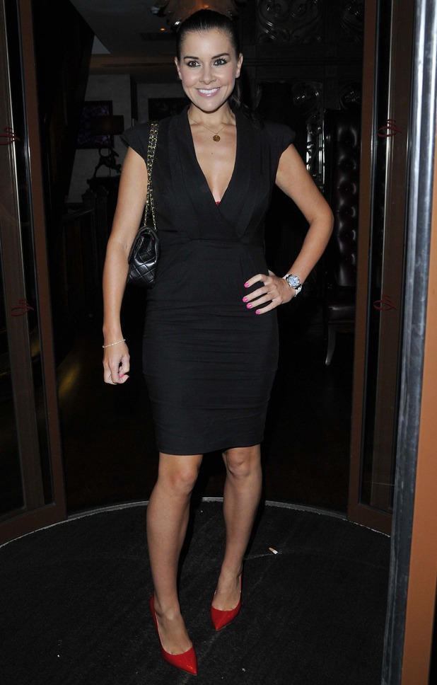 Imogen Thomas attends Casey Batchelor's birthday party at Sanctum Soho Hotel in London - 2 October 2014