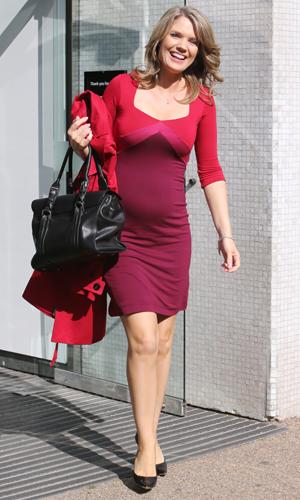 Charlotte Hawkins outside the ITV studios, 30 September 2014
