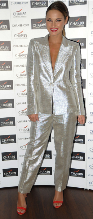 Sam Faiers on 18 September at Emeli Sande charity gala