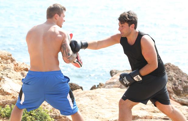 Dan Osborne, Only Way Is Essex cast in Ibiza, Spain - 26 Sep 2014