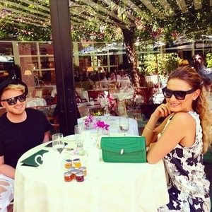 Sam Faiers has breakfast with a friend at Beverly Hills Hotel in LA 7 October