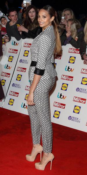 Alesha Dixon attends Pride of Britain Awards 2014, Grosvenor House Hotel, London 6 October
