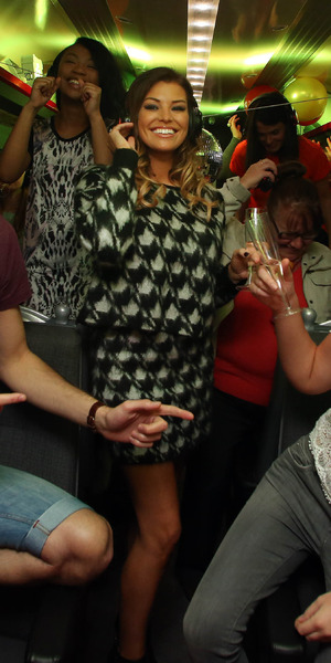 Jess Wright attends silent disco on a train to celebrate 16-25 Railcard, Marylebone Station, London 7 October