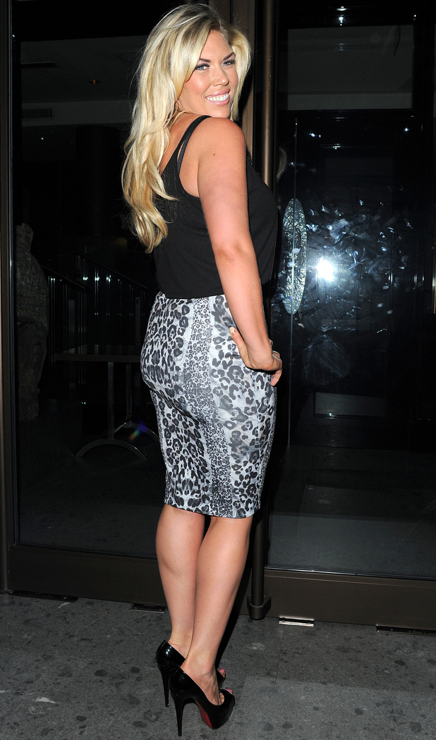Frankie Essex on a night out in Mayfair with boyfriend John, 11 Oct.