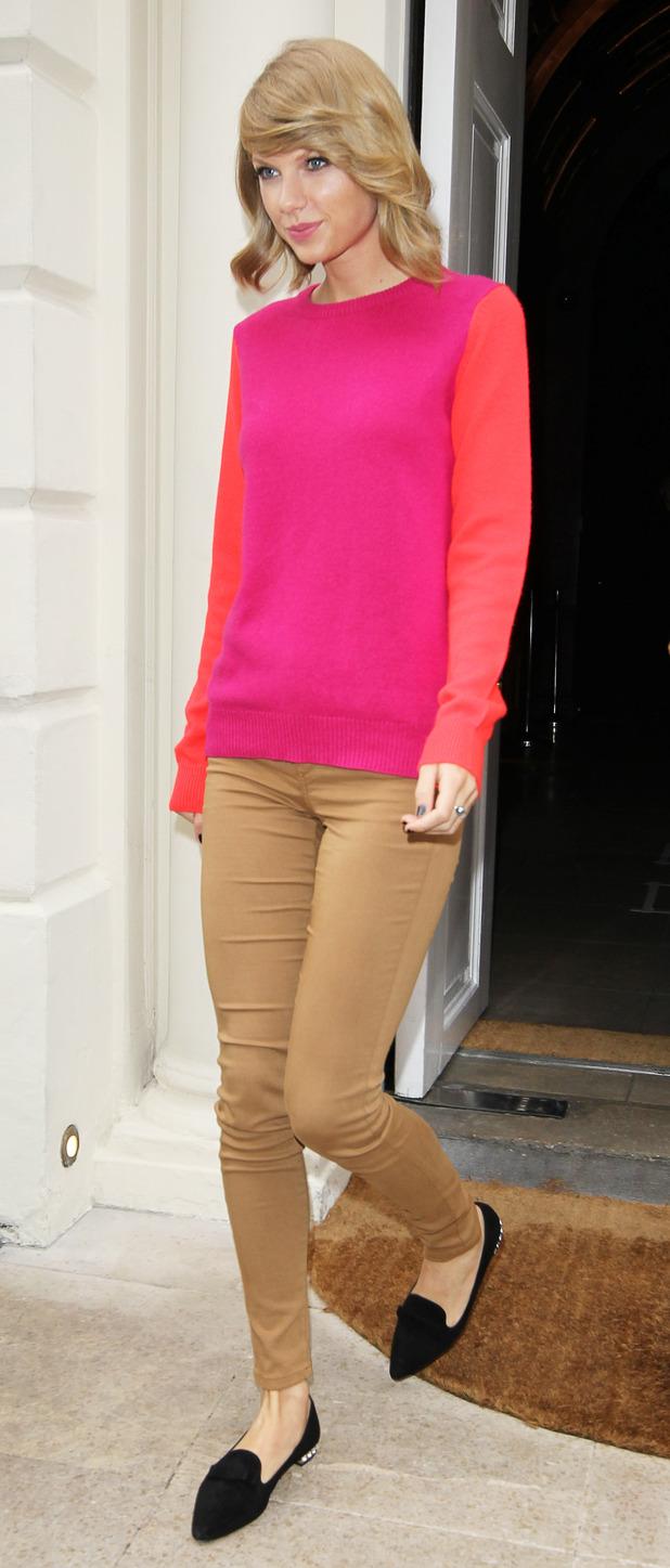 Taylor Swift leaving Sketch in Mayfair, London. 10/10/14