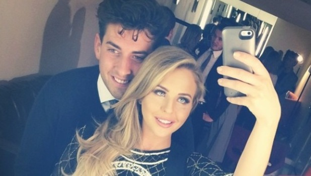 TOWIE's Lydia Bright and James 'Arg' Argent cuddle at ITVBe launch - 7 Oct 2014