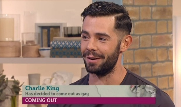 Former TOWIE star Charlie King comes out as gay on This Morning - 9 October.