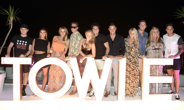 The Only Way Is Ibiza on ITVBePictured: Charlie Sims, Ferne McCann, Georgia Kousoulou, Lewis Bloor, Lydia Bright, Tom Pearce, Elliott Wright, Danielle Armstrong, Dan Osbourne, Gemma Collins and Mario Falcone.