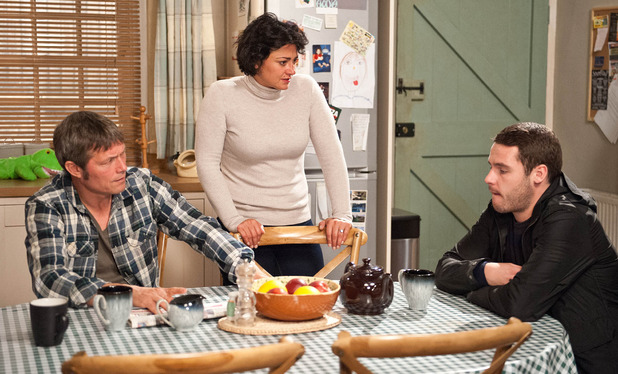 Emmerdale, Aaron tells Moira about Adam, Fri 10 Oct
