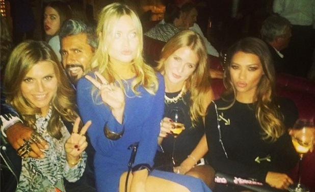 Vanessa White, Laura Whitmore, Millie Mackintosh, Zoe Hardman at Mondrian London Hotel launch, London 9 October