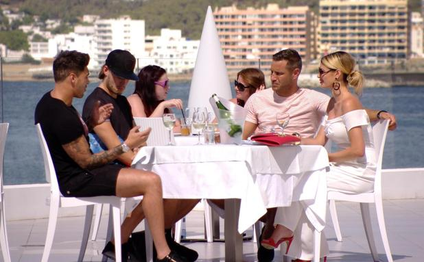 TOWIE's Mario Falcone makes his return in series 13 and has lunch with Chloe, Charlie and Elliott. Episode aired Wednesday 8 October.