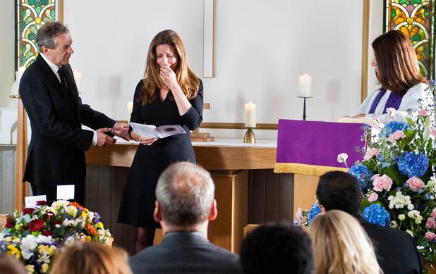 Emmerdale, Robbie's funeral, Thu 9 Oct