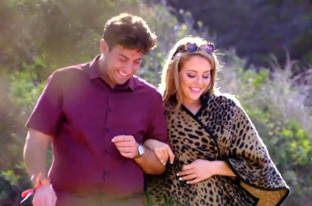 TOWIE's James 'Arg' Argent and Lydia Bright on The Only Way Is Ibiza. Episode aired Wednesday 8 October 2014.