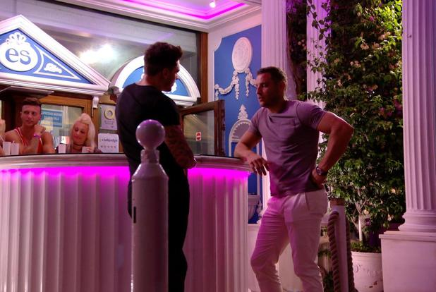 TOWIE's Mario Falcone makes his return in series 13 and comes face to face with Elliott. Episode aired Wednesday 8 October.