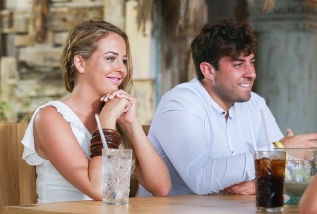 Lydia Bright and James Arg Argent double date with Georgia Kousoulou and Tommy Mallet, Ibiza, Spain 28 September
