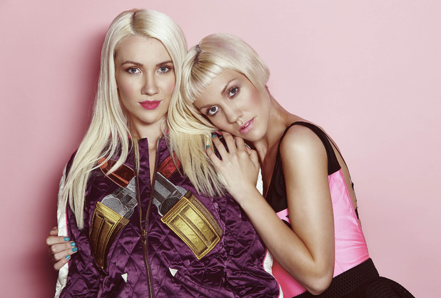 X Factor 2014 finalists Jazzy and Ruby of Blonde Electra.