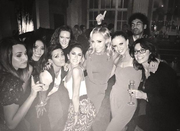 Frankie Bridge enjoys night out with SCD friends after live show, 11 October 2014