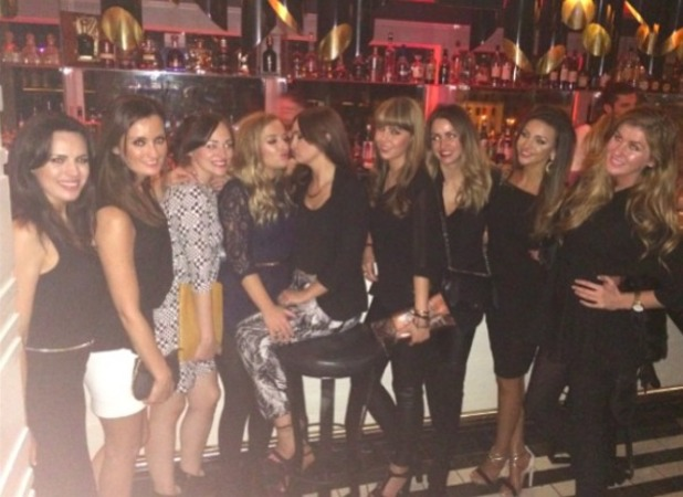 Michelle Keegan celebrates a friend's birthday with a night on the town, 10 October 2014
