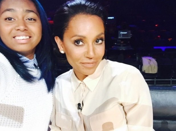 Mel B rehearses with her boys for X Factor - 10 October 2014