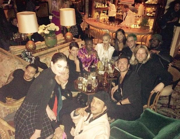 TOWIE's Vas J Morgan enjoys dinner celebration with Rita Ora and friends  - 8 October.
