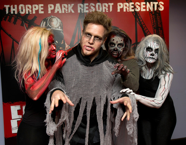 Olly Murs at Thorpe Park Resort's Fright Nights launch, Chertsey, Surrey, Britain - 09 Oct 2014