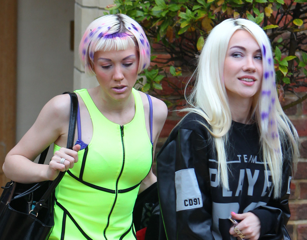 X Factor's Blonde Electra sport new hair styles, X Factor house, London 8 October