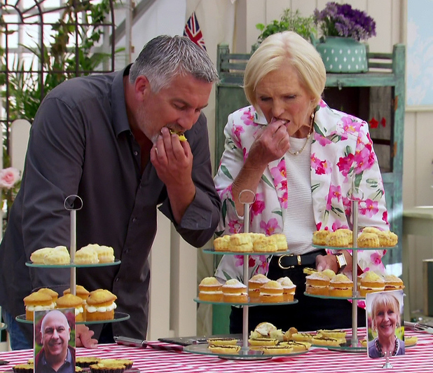 Mary Berry and Paul Hollywood on Great British Bake Off final, 10/08/2014