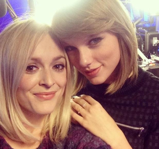 Fearne Cotton and Taylor Swift at Radio 1, BBC Studios, London 9 October