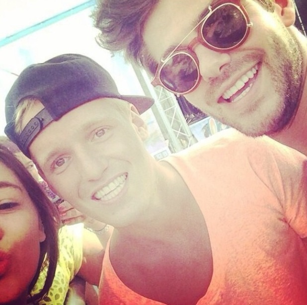 Made In Chelsea's Jamie Laing and Alex Mytton all smiles in selfie - 7 October.