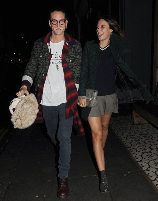 Made In Chelsea's Lucy Watson and Oliver Proudlock at the VQ restaurant, London, Britain - 09 Oct 2014