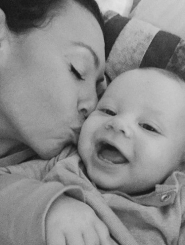 Michelle Heaton shares a cute snap of her with son AJ, 11 October.