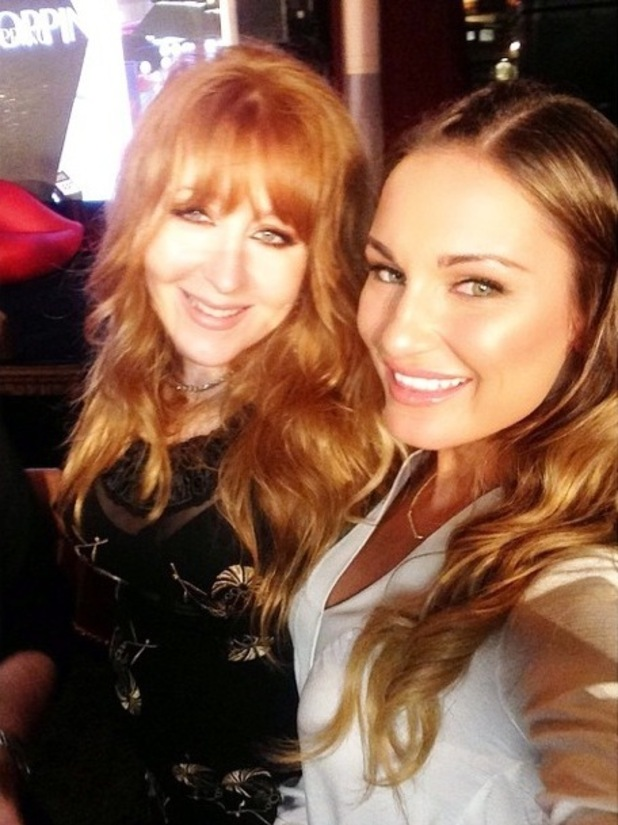 Sam Faiers with Charlotte Tilbury at the launch of Charlotte's make-up range in Los Angeles, America - 9 October 2014