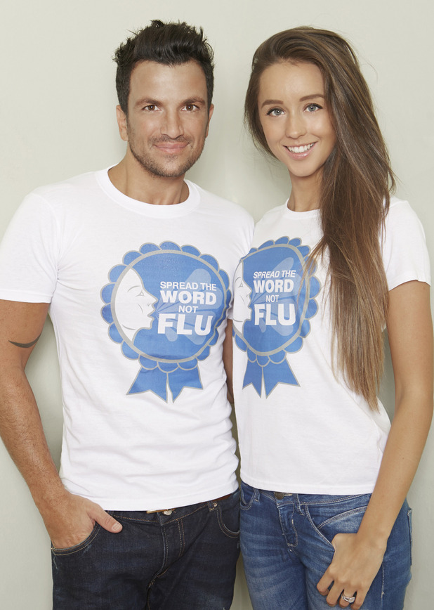 Peter Andre and fiancée Emily MacDonagh support the Public Health England campaign - 6 October 2014.