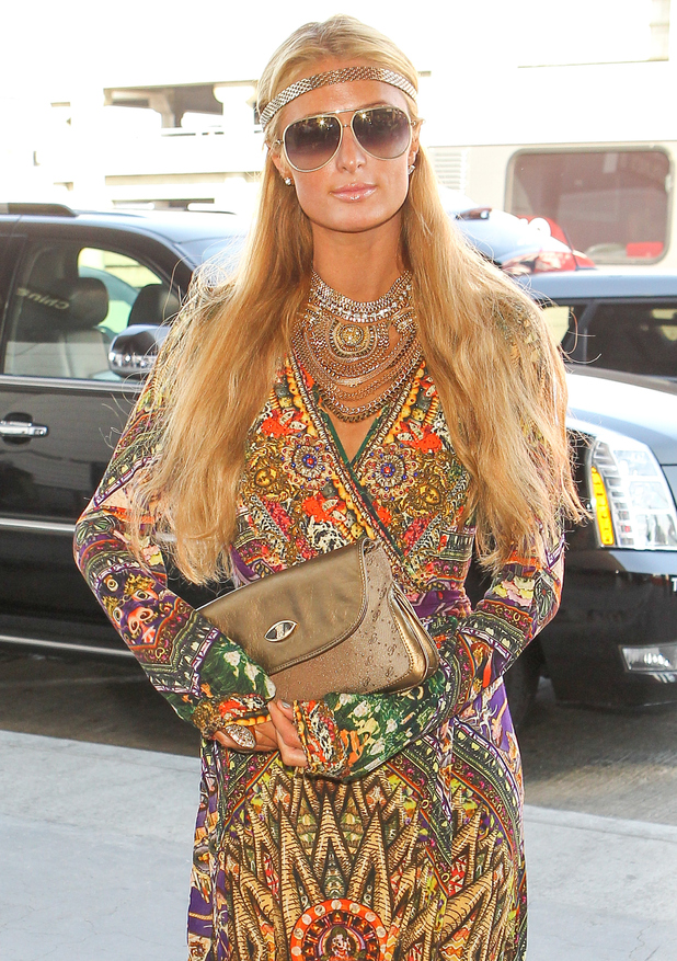 Paris Hilton arrives at LAX airport before flying to Dubai - 8 October 2014