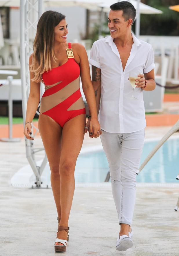 Jess Wright and Bobby Norris at Ocean Beach Club, Ibiza 28 September