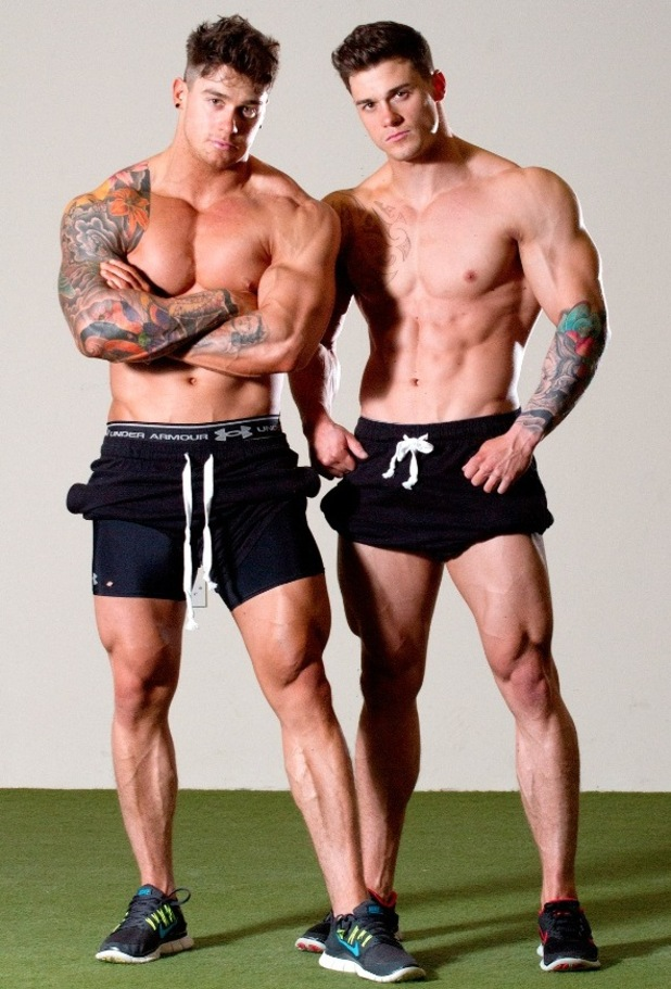 Twin bodybuilders Owen and Lewis Harrison