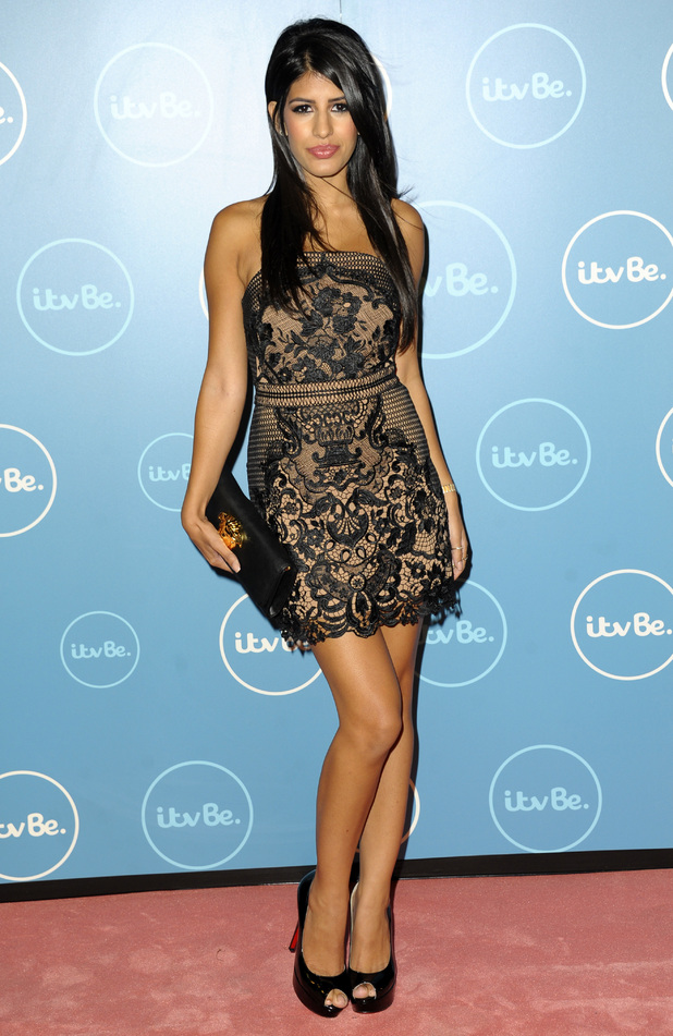 TOWIE's Jasmin Walia attends the ITVBe launch party in London, England - 7 October 2014