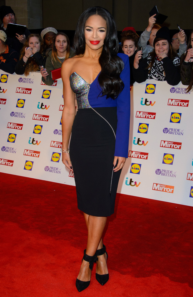 Sarah-Jane Crawford attends the Pride of Britain Awards in London, England - 6 October 2014