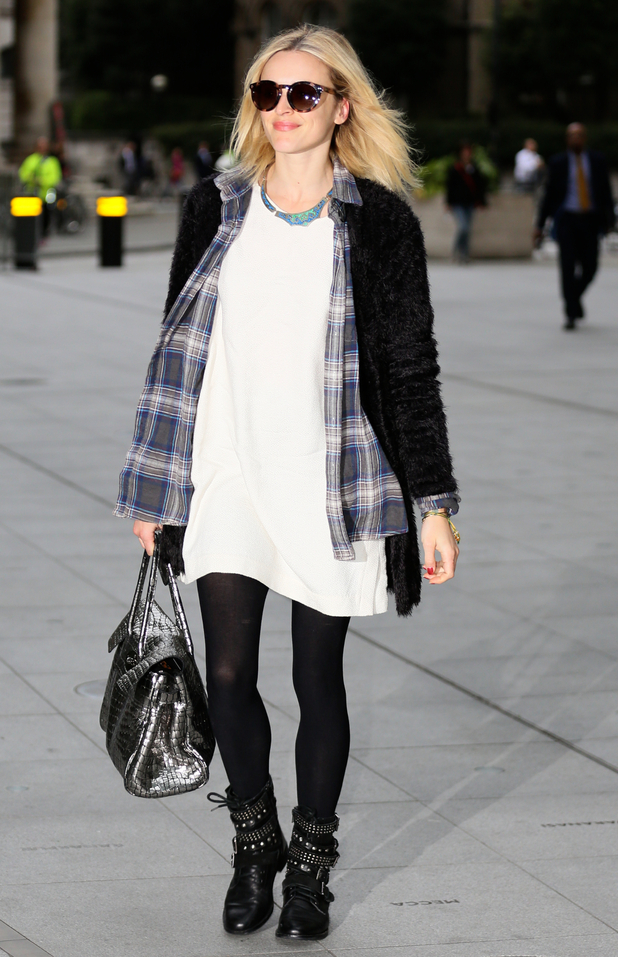 Fearne Cotton outside BBC Studios, London 6 October