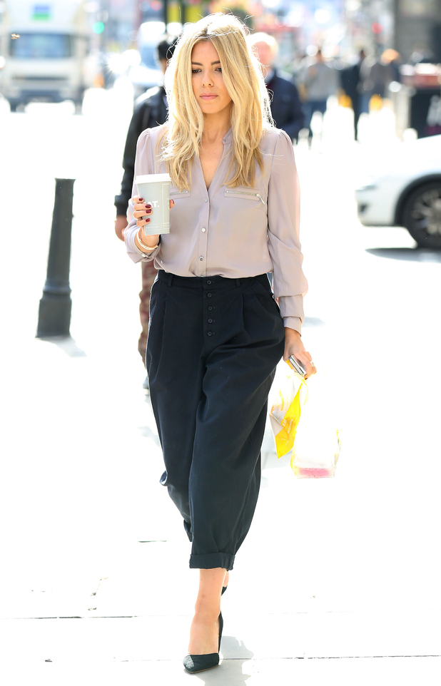 The Saturdays' Mollie King heads out in London, England - 10 October 2014