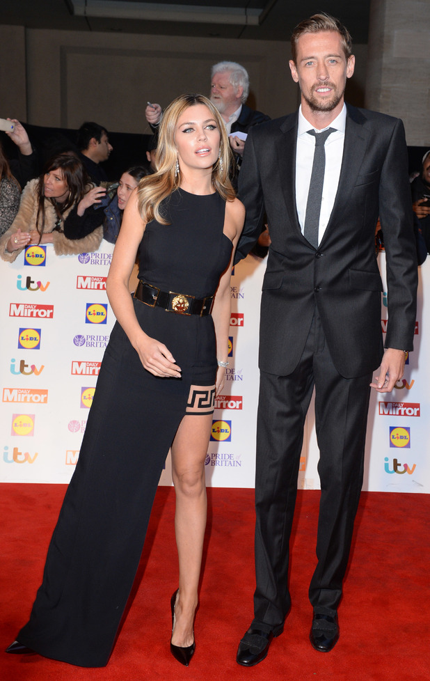 Abbey Clancy and Peter Crouch attend the Pride of Britain Awards 2014 in London, England - 6 October 2014