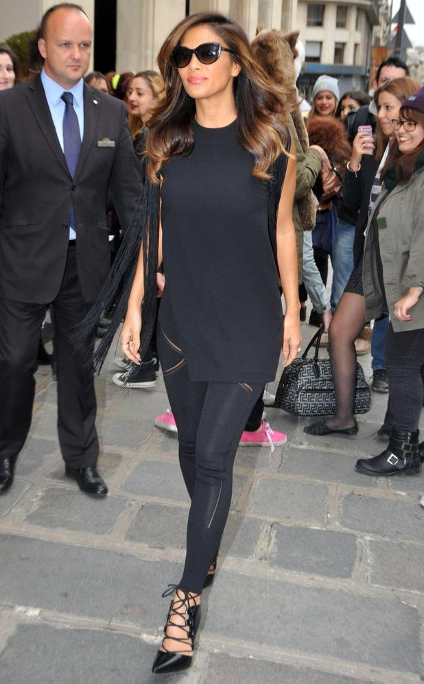 Nicole Scherzinger wears an all-black outfit while out in Paris, France - 6 October 2014