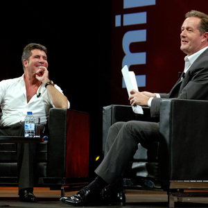 Piers Morgan interviews celebrities at the MIPCOM television content market in Cannes 10/13/2014 Cannes, France
