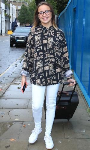 X Factor finalist Lauren Platt arrives at the rehearsal studio 10/13/2014 London, United Kingdom