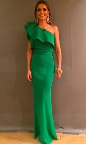 Cheryl Fernandez-Versini wears 'Kermit dress' on The X Factor, 18 October 2014