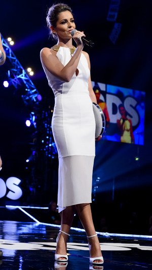 Cheryl Fernandez-Versini takes to the stage at the BBC Radio 1's Teen Awards, Wembley Arena, London - 19 Oct 2014