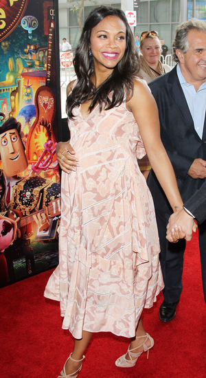 Zoe Saldana arrives at the Los Angeles premiere of 'Book Of Life' held at Regal Cinemas L.A. Live on October 12, 2014 in Los Angeles, California.
