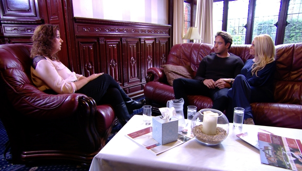 Danielle Armstrong and James Lock attend counselling during TOWIE episode, 19 October 2014