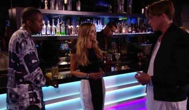 TOWIE preview: Lewis Bloor attempts to make amends with Lauren and Vas over his recent behaviour. Airs: Wednesday 15 October 2014.